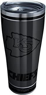 Tervis 1332212 NFL 100-Kansas City Chiefs Stainless Steel Insulated Tumbler with Clear and Black Hammer Lid, 20 oz, Silver...