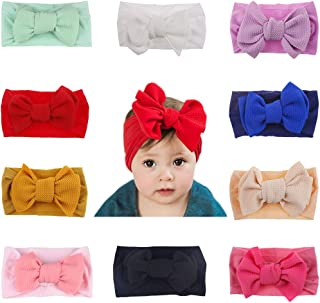 Baby Girl Headbands Newborn Infant Toddler Nylon Knotted Hairbands Bows Elastic Stretchy Soft Hair Band