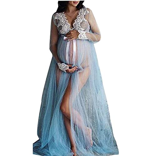 1848c1586b6 Viclearshop Spilt Front Maternity Dresses for Photography