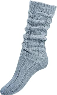 Pure Cashmere Cable Knit Bed Socks Made in Scotland