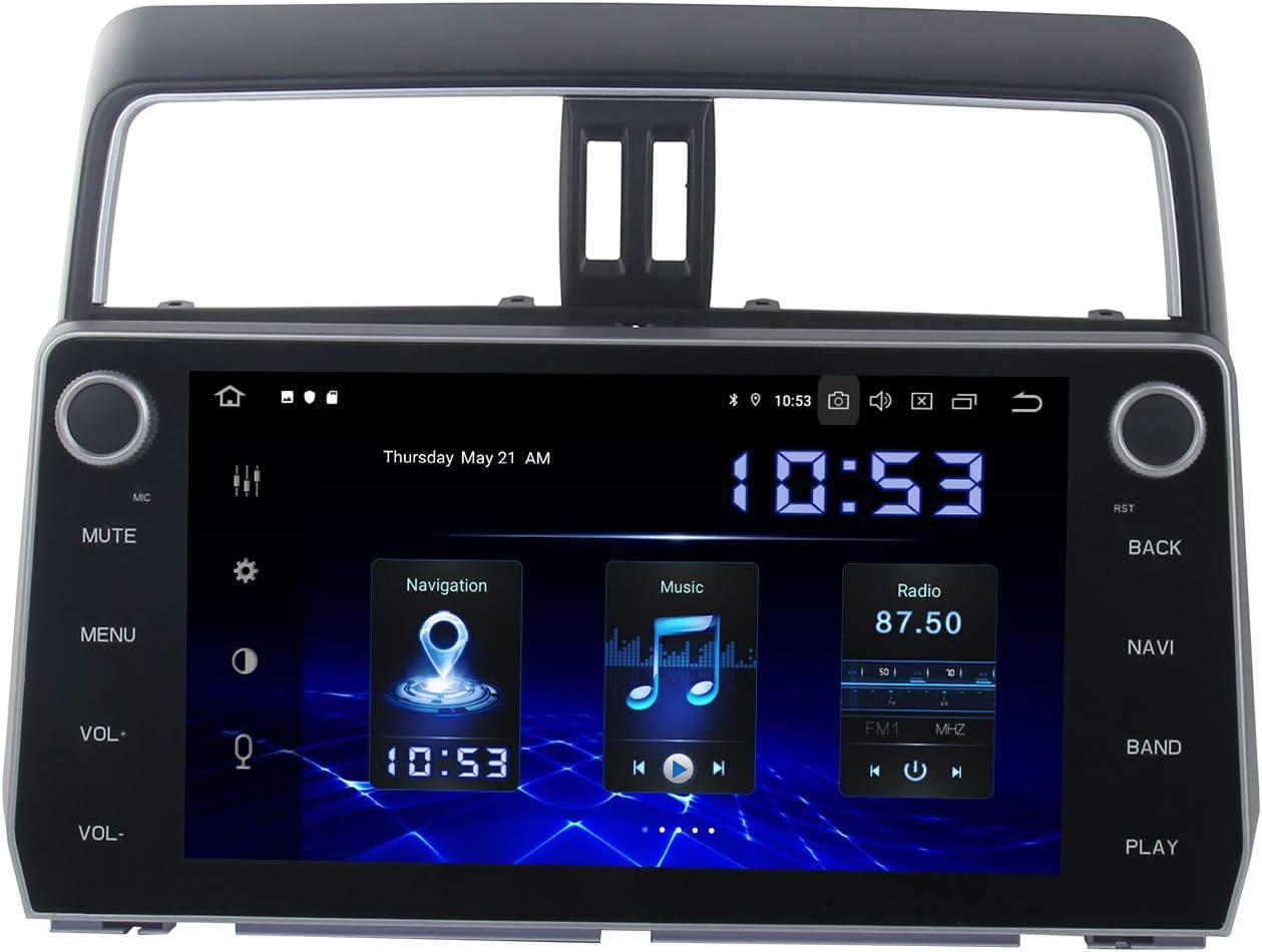 Dasaita Android 10.0 in Dash Navigation Car Radio Carplay for Toyota Prado 2018 2019 Bluetooth Car Stereo with GPS Navigation 10.2 Inch Quad-Core Support WiFi Mirror Link (4G RAM+64G ROM)
