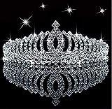 Tiara de princesa con cristales brillantes para niños, con peine, para cumpleaños, con p...