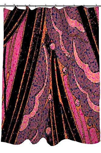 Handmatige Woodworkers & Weavers douchegordijn, roze portemonnee