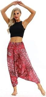 Sceoyche Men Women Casual Bohemian Loose Yoga Travel Lounge Festival Beach Print Pants