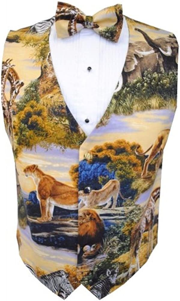 Jungle Safari Tuxedo Vest and Bow Tie