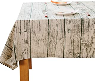 Tablecloth,JZY Vintage Cotton Linen Table Cover 55 x 70 inches Table Cloth for Rectangle Table(Wood Grain)