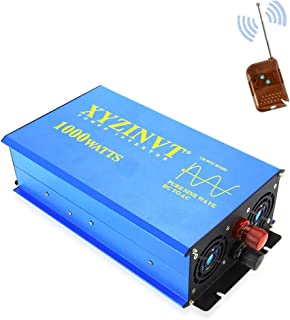 XYZ INVT 1000 watt Pure Sine Wave Power Inverter dc 12v to ac 120v with LED Display and Wireless Remote Controller (1000w 12v RC)