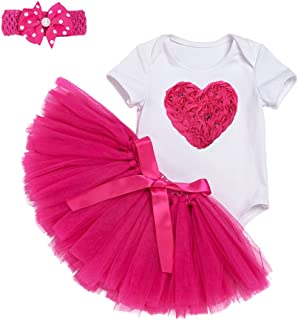 Perfeclan Baby Girl First 1st Birthday Outfit Tutu Skirt Dress Cake Smash Party Headband