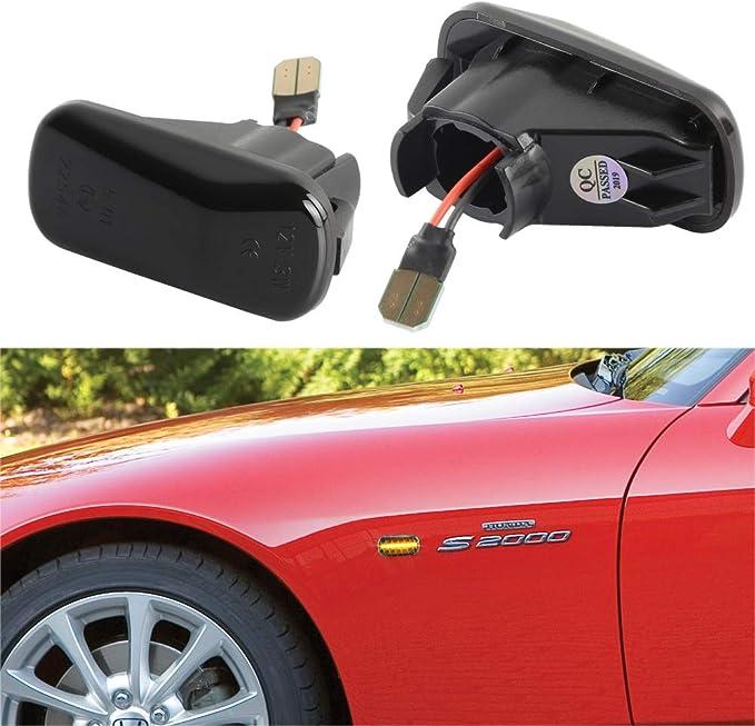 1 Paar Oz Lampe Led Seitenmarkierungsblinker Fahrtrichtungsanzeiger Für Hond A Civic Geräucherte Linse Auto