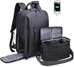 CADeN DSLR Camera Backpack Bag Waterproof Anti Theft with 15.6 inch Laptop Compartment, USB Charging Port, Tripod Holder, Rain Cover, Inner Case, Compatible for Sony Canon Nikon Olympus