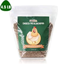 LUCKYQ Dried Mealworms 4.5Lbs, High-Protein Bulk Mealworms, 100% Non-GMO Mealworm Treats for Birds, Chickens, Turtles, Fish, Hamsters and Hedgehogs All Natural Animal Feed