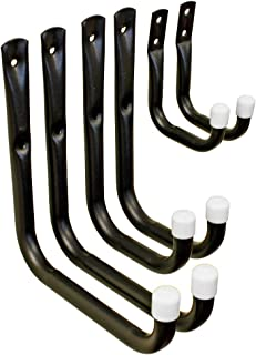 Shepherd Hardware 8088E Heavy Duty Steel Garage Storage/Assorted Utility Hooks, 6 Pack
