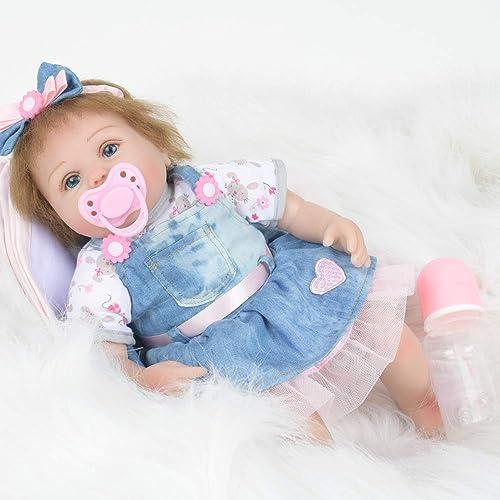 16 Zoll Nette Silikonpuppe Spielt Volle Silikon Vinyl American Girl Puppe Silikon Americano Boneca Für Kind Als Geschenk