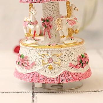 LOVE FOR YOU Carousel Horse Music Box Mechanism Musical Unicorn for Women Kids Baby Girls mom Daughter Granddaughter ...