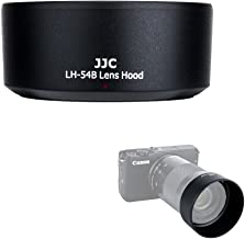 JJC Bayonet Dedicated Lens Hood Shade for Canon EF-M 55-200mm f/4.5-6.3 IS STM Lens on Canon Mirrorless Camera Such as Canon EOS M100/M10/M6/M5/M3, Replaces Canon ET-54B OEM Lens Hood