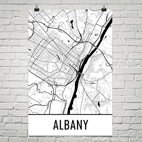 Albany Poster, Albany Art Print, Albany Wall Art, Albany Map, Albany City Map, Albany New York City Map Art,Albany Gift,Albany Decor, (12