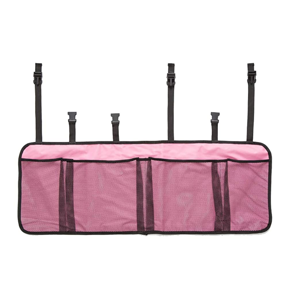 IdealHome Three Pocket Mesh Storage Net - Black Mesh Three Pocket Trunk Cargo Organizer