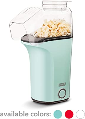 Dash DFAF455GBAQ01 Deluxe Electric Air Fryer + Oven Cooker with Temperature Control, 6 qt & Hot Air Popcorn Popper Maker with Measuring Cup to Portion Popping Corn Kernels + Melt Butter, 16, Aqua
