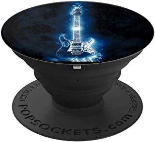 Electric Guitar Gadget Cool Ice Blue Color Gift - PopSockets Grip and Stand for Phones and Tablets