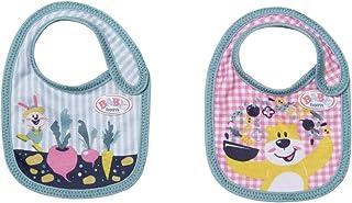 BABY Born Slabbetje 43cm 2 Stuks - Voor Peuters Vanaf 3 Jaar - Perfect voor Kinderhandjes - Twee Verschillende Designs
