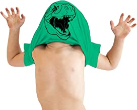 Toddler Ask Me About My Trex T Shirt Funny Cool Dinosaur Flip Up Tee for Kids