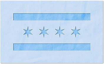 Stencil Stop Chicago City Flag Stencil - 14 Mil Mylar Plastic (3 x 1.45 Inches)