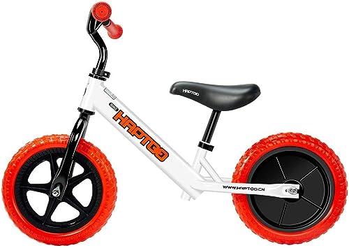 mejor marca Bicicleta Equilibrio 1-5 años,12 Pulgadas Marco Acero Acero Acero Carbono Sin Pedal 2 Ruedas Anchas Bicicleta para Niños pequeños Bicicletas con Manillar Asiento Ajustables para niñas Niños Niños  marcas de diseñadores baratos