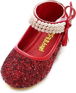 Girl Round-Toe Sparkle Bowknot Ballet Ballerina Flat Princess Wedding Shoes Mary Janes