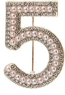 Bangle009 Squisite Spille Moda Donna 5 Figura Faux Pearl Strass Badge Spilla Pin Vestiti Gioielli