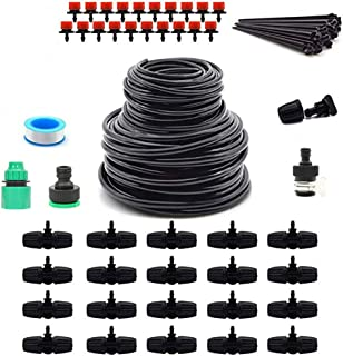 Micro Drip Irrigation System,DIY Watering Irrigation System Kit Automatic Watering Device Garden Lawns Irrigation Equipment