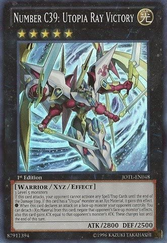 YU-GI-OH - Spring new work Number C39: Utopia Judgme Max 79% OFF JOTL-EN048 Victory Ray