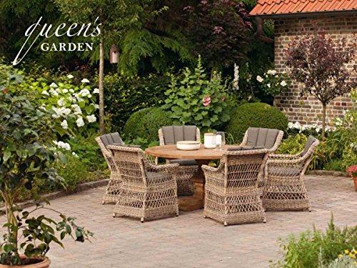 QUEEN'S GARDEN Hochwertige Gardino-Pro Sitzgruppe Allegro 6-Personen/Gartenmöbel/Terrassentisch/Outdoor