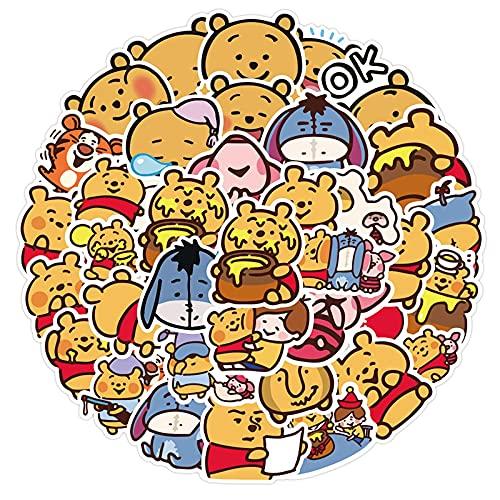 WYZN 50 unids lindo oso adhesivo Pooh Bear Personalidad creativo DIY niños scrapbook decoración Notebook Computer impermeable scooter vinilo adulto adolescente Vsco graffiti Cartoon Sticker Decal