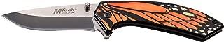 Mtech USA MT-A1005OR Cuchillo Plegable con Resorte, Hoja Pulida con Espejo, Mango de Mariposa Naranja y Negro, 7.5 Pulgadas en Total