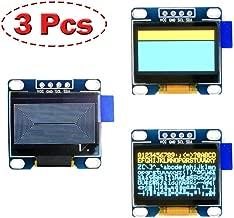 OLED Display Arduino Screen 0.96 inch 128x64 2pcs Blue&Yellow 1pc White (3pcs)