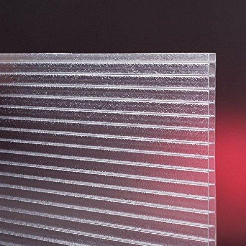 Polycarbonat-Universal-Mehrwandplatten für Gewächshäuser gefrostet/matt klar 1500 x 610 x 4 mm