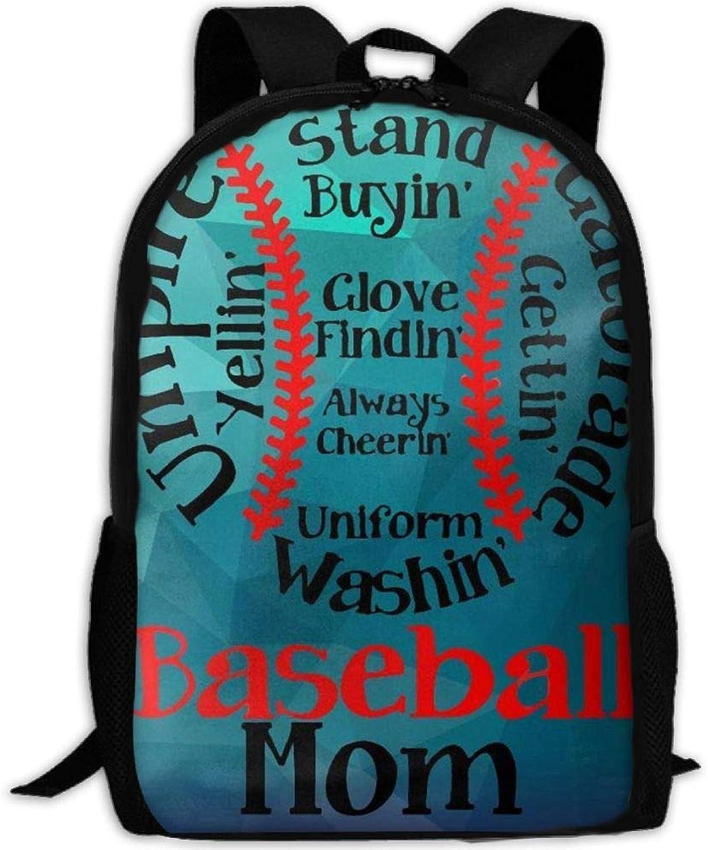 Funny Baseball Family Mom 3D Print Backpack College School Laptop Bag Daypack Travel Shoulder Bag for Unisex B07Q2BZYQH  Bestätigungsfeedback