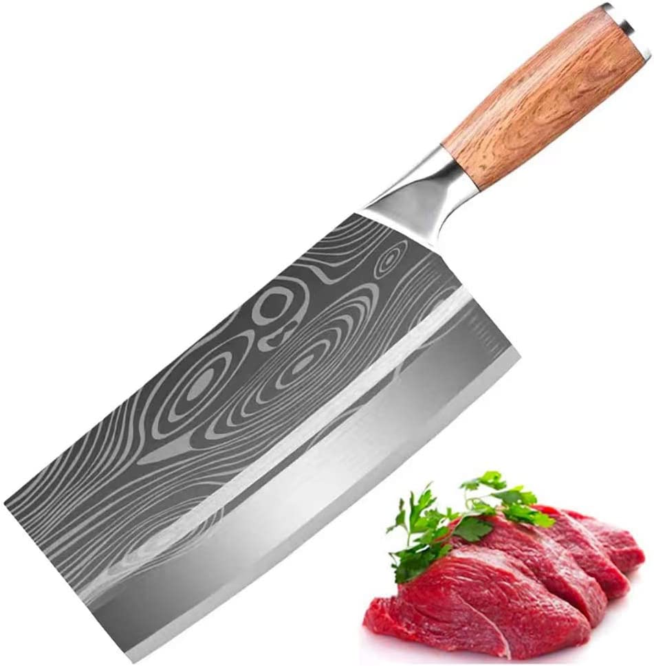 Meat Limited time sale Cleaver 8-inch Chef Knife 5 popular Professional Butcher Stainl