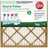 Rheem 16'x20'x1' Household Pleat Filter - 3 Pack