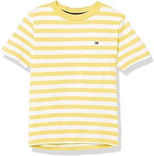 Boys' Short Sleeve Crew Neck Striped T-Shirt