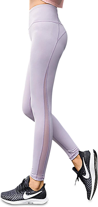 Charaland Mesh Yoga Legging DryFit Workout Pants for Womens