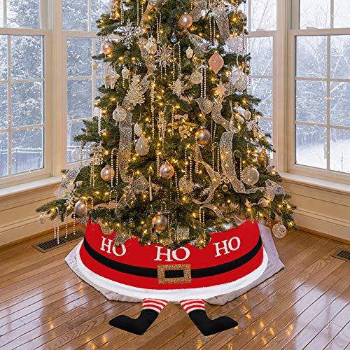 JoyTplay - Gonna per albero di Natale, con collare a forma di Babbo Natale, diametro 77 cm, resistente, per albero di Natale, per feste di Natale, per la casa e il negozio (Babbo Natale)