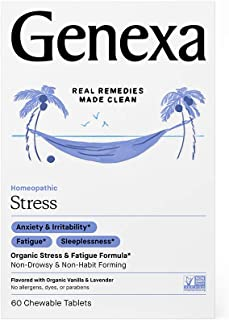 Genexa Stress - 60 Tablets | Certified Organic & Non-GMO, Physician Formulated, Homeopathic | Stress & Fatigue Remedy
