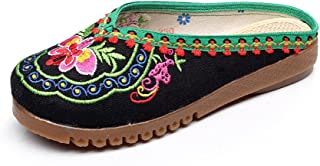 xichengshidai Chinese Embroidery Shoes Embroidered Canvas Shoes Dancing Shoes Black