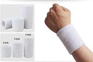 Wonzone 1 Pairs 3 inch Wrist Sweatband Sports Basketball Wristband/Sweatband Wrist Sweat Band/Brace