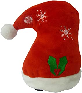 BZB Goods Singing Walking Christmas Hat Musical Plush Toy with Motion
