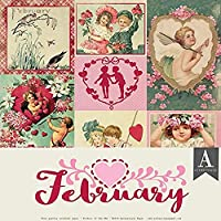 """Authentique Double-Sided Cardstock Pack 12""""X12"""" 11/Pkg-February, 3 Designs/3"""