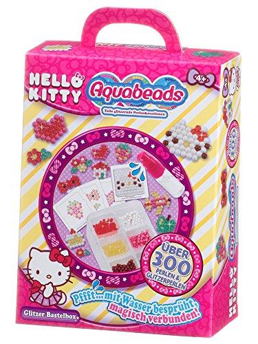 Aquabeads 79988 Hello Kitty Glitzer Bastelbox, Kinder Bastelset