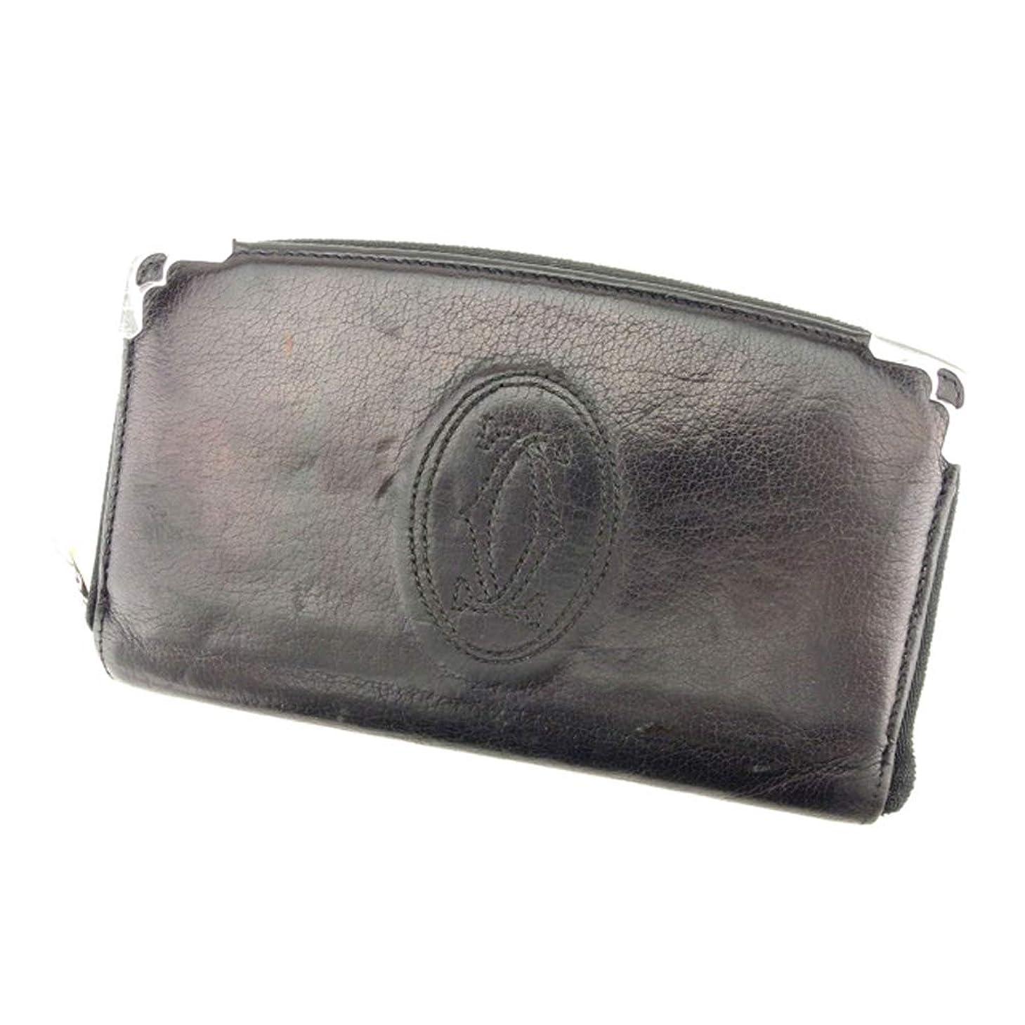 風シャンパンシソーラス(カルティエ) Cartier 長財布 ラウンドファスナー レディース メンズ マストライン 中古 T8781