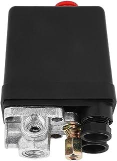 Air Compressor Switch, Heavy Duty 240V 16A Four Port Air Compressor Pressure Switch Control 90PSI -120PSI, Air-Compressor ...